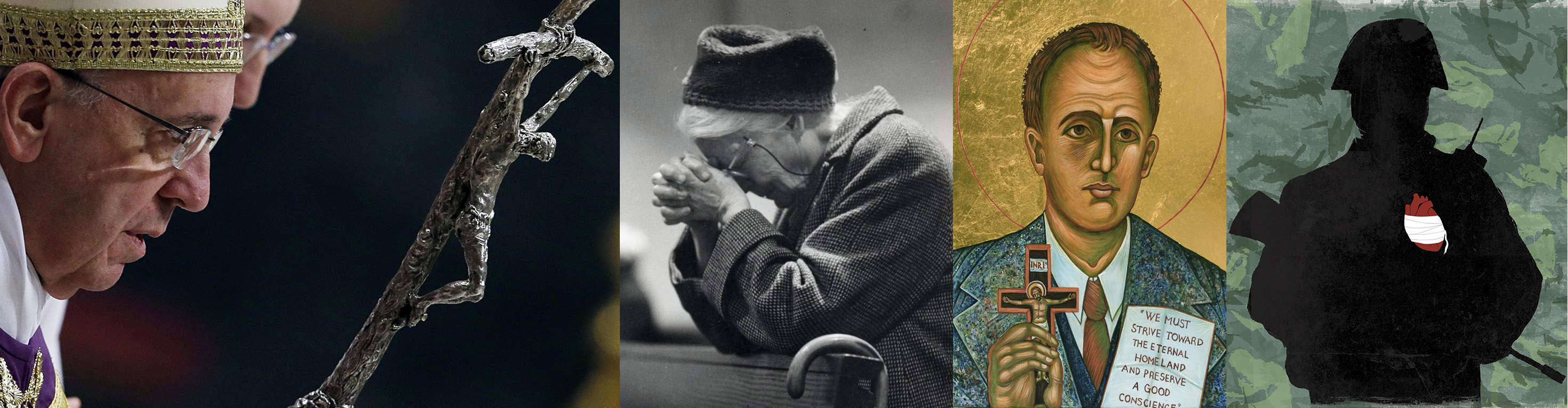 Pope Francis and Crucifix - Dorothy Day - Blessed Franz Jagerstatter - David's Heart